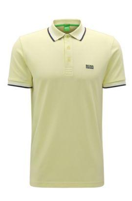 Regular-Fit Poloshirt aus Baumwoll-Piqué, Hellgelb