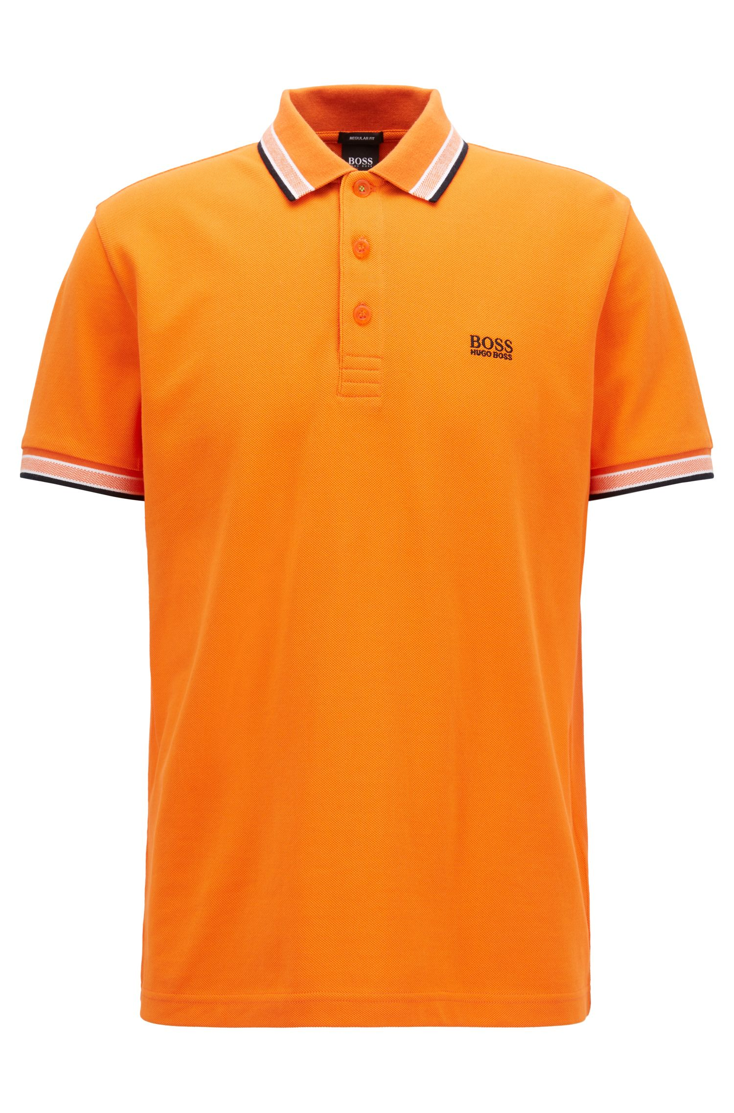 Polo Regular Fit en maille piquée, Orange