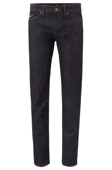 Jeans Slim Fit en denim stretch, Bleu foncé
