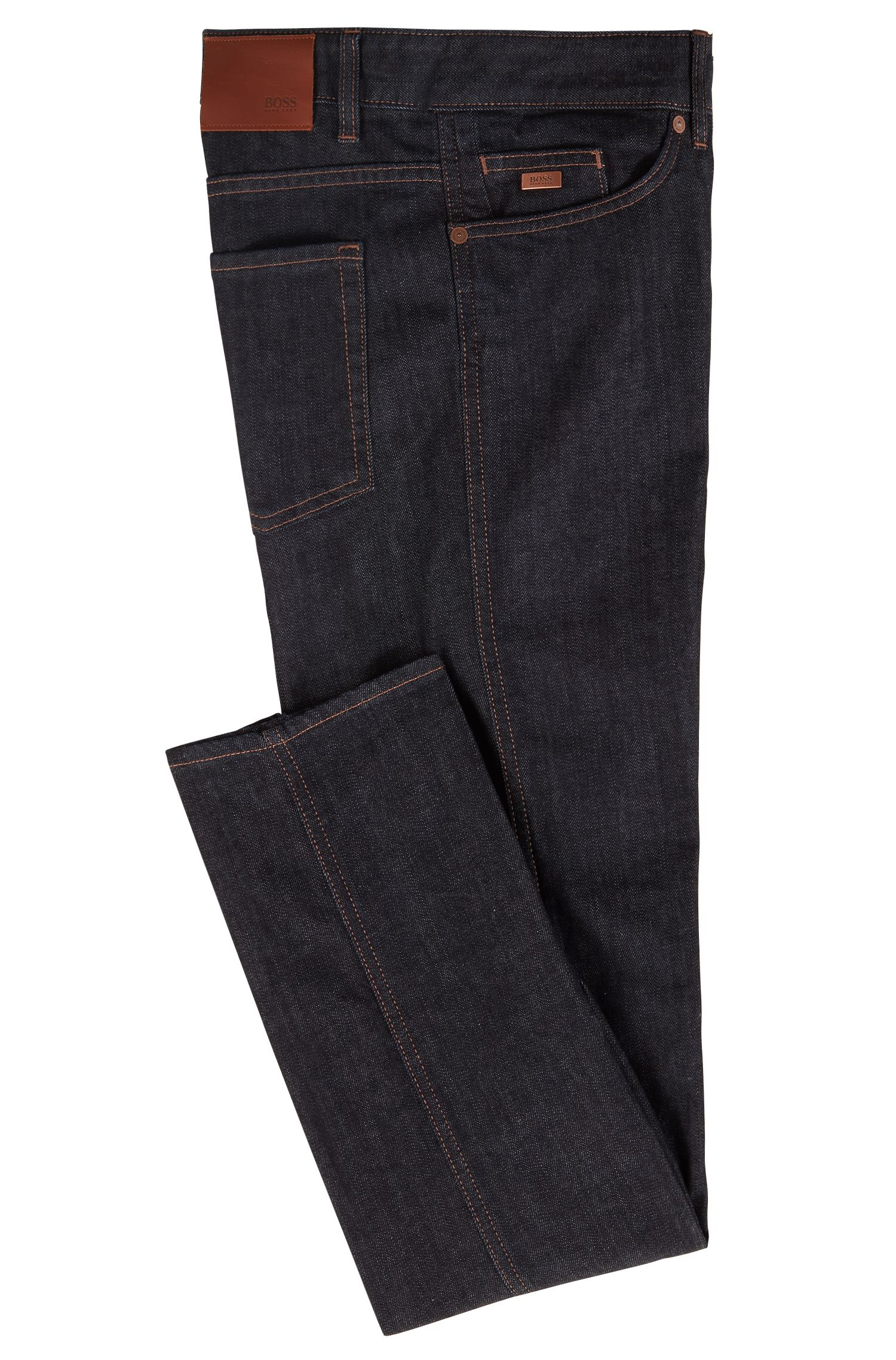 Slim-Fit Jeans aus Stretch-Denim, Dunkelblau