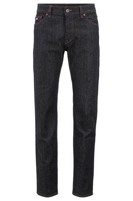 Regular-fit jeans van stretchdenim, Donkerblauw