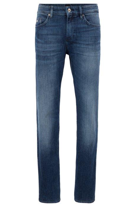 Slim-Fit Jeans aus gewaschenem Denim, Blau