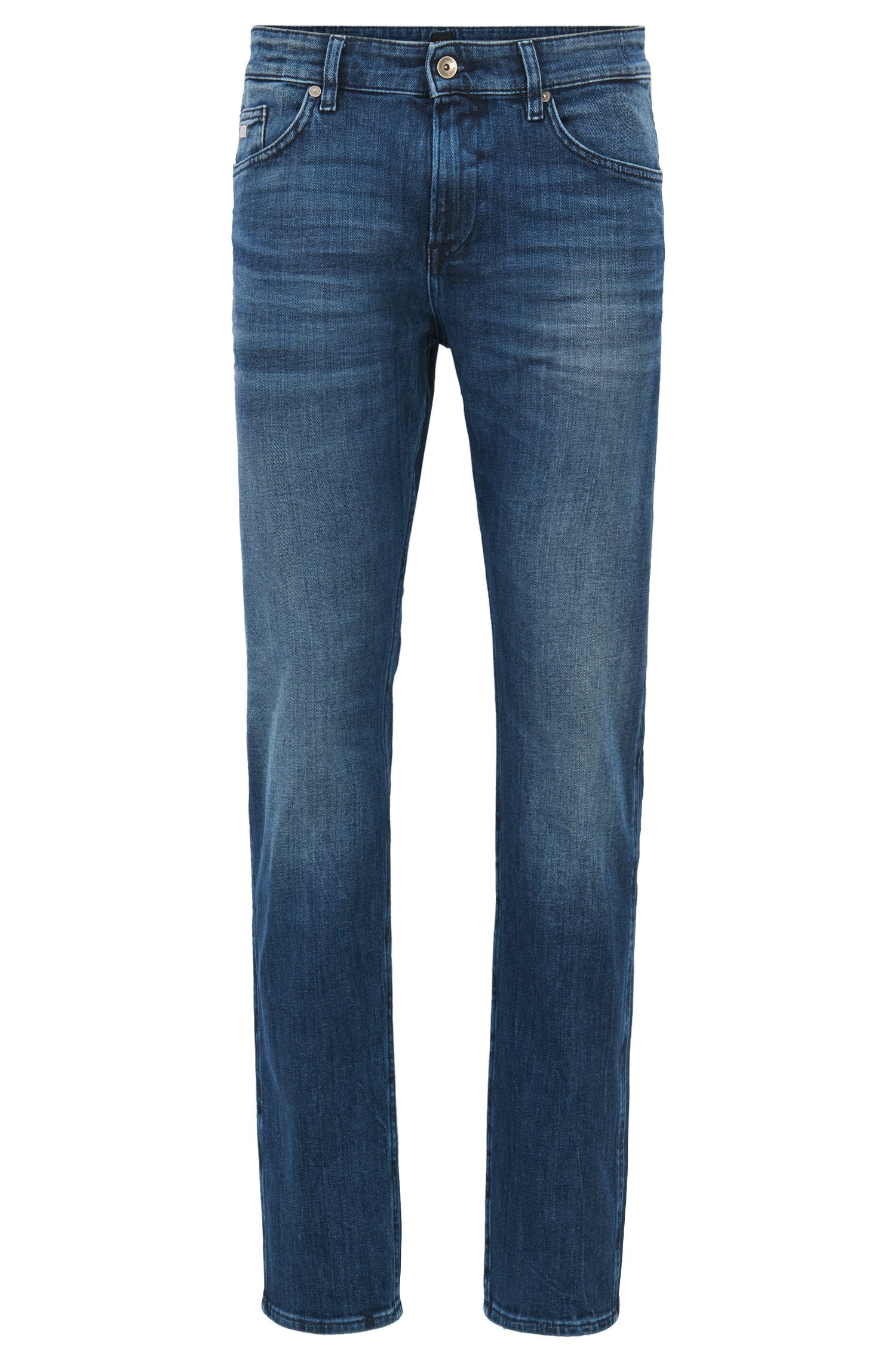 Jeans slim fit in denim con lavaggio medio
