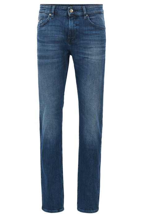 Discount Inexpensive Slim-fit jeans in mid-wash denim BOSS Genuine Cheap Online Outlet Finishline Clearance Footaction ku7Cabf1Q