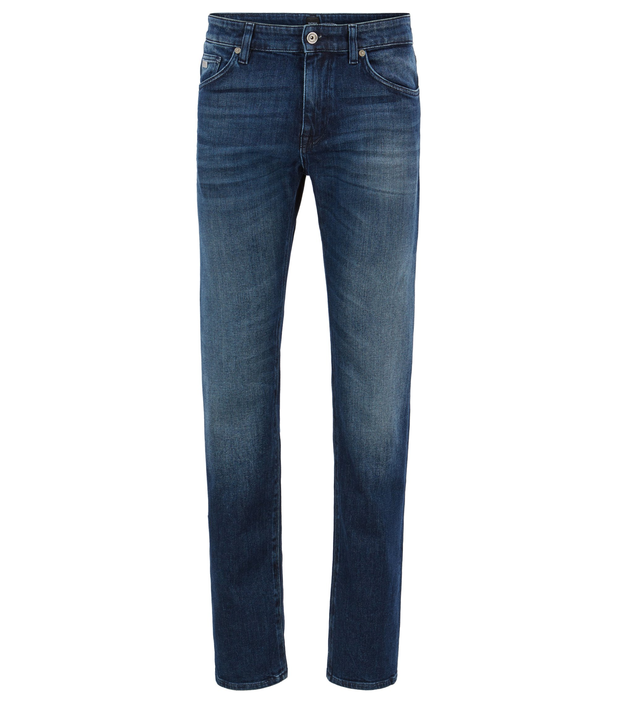 Jeans Regular Fit en denim stretch, Bleu