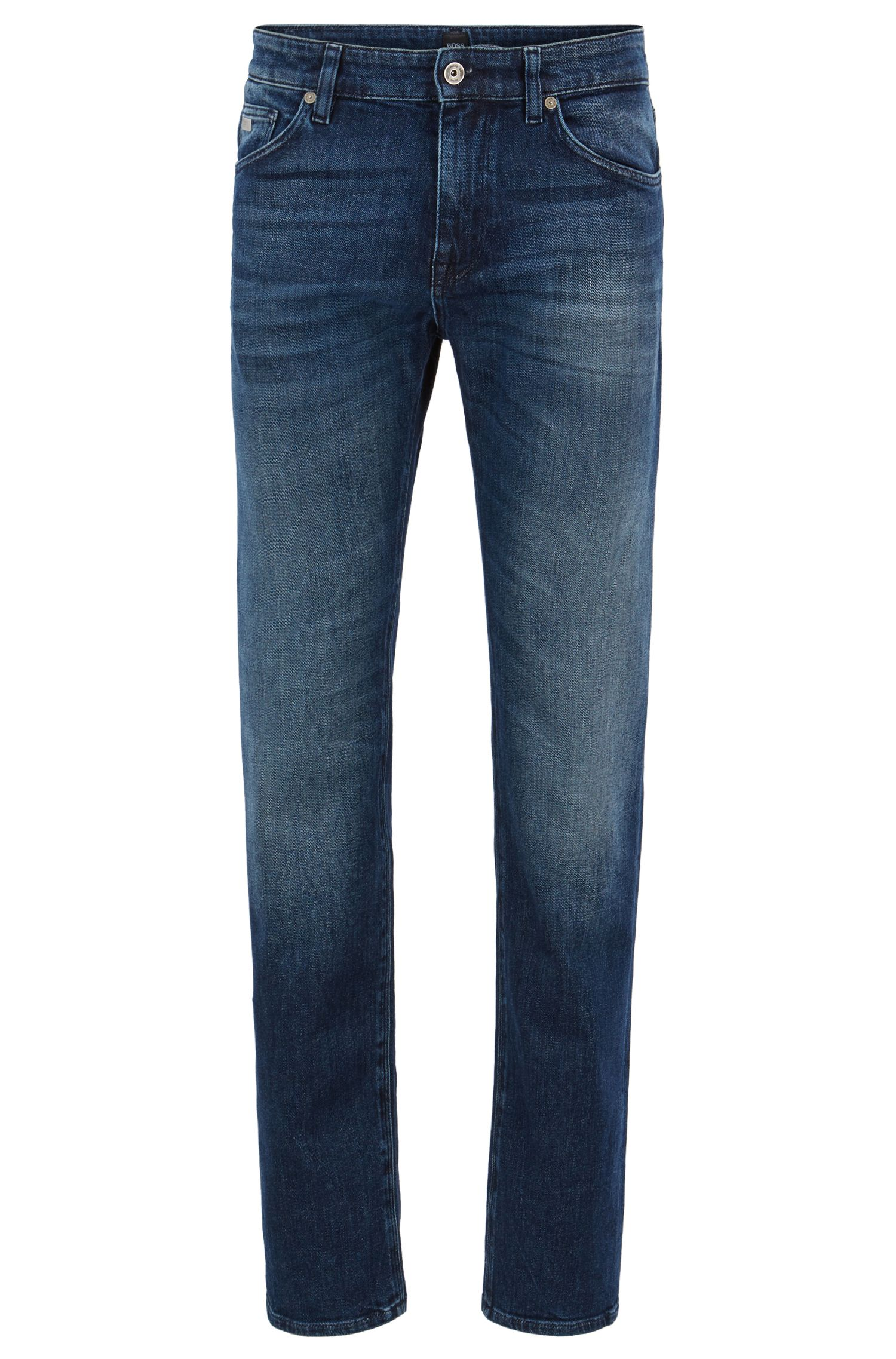 Regular-fit jeans van stretchdenim