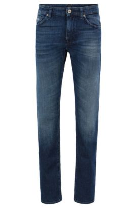 Vaqueros regular fit en denim elástico, Azul