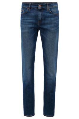 Slim-fit jeans van stretchdenim, Blauw