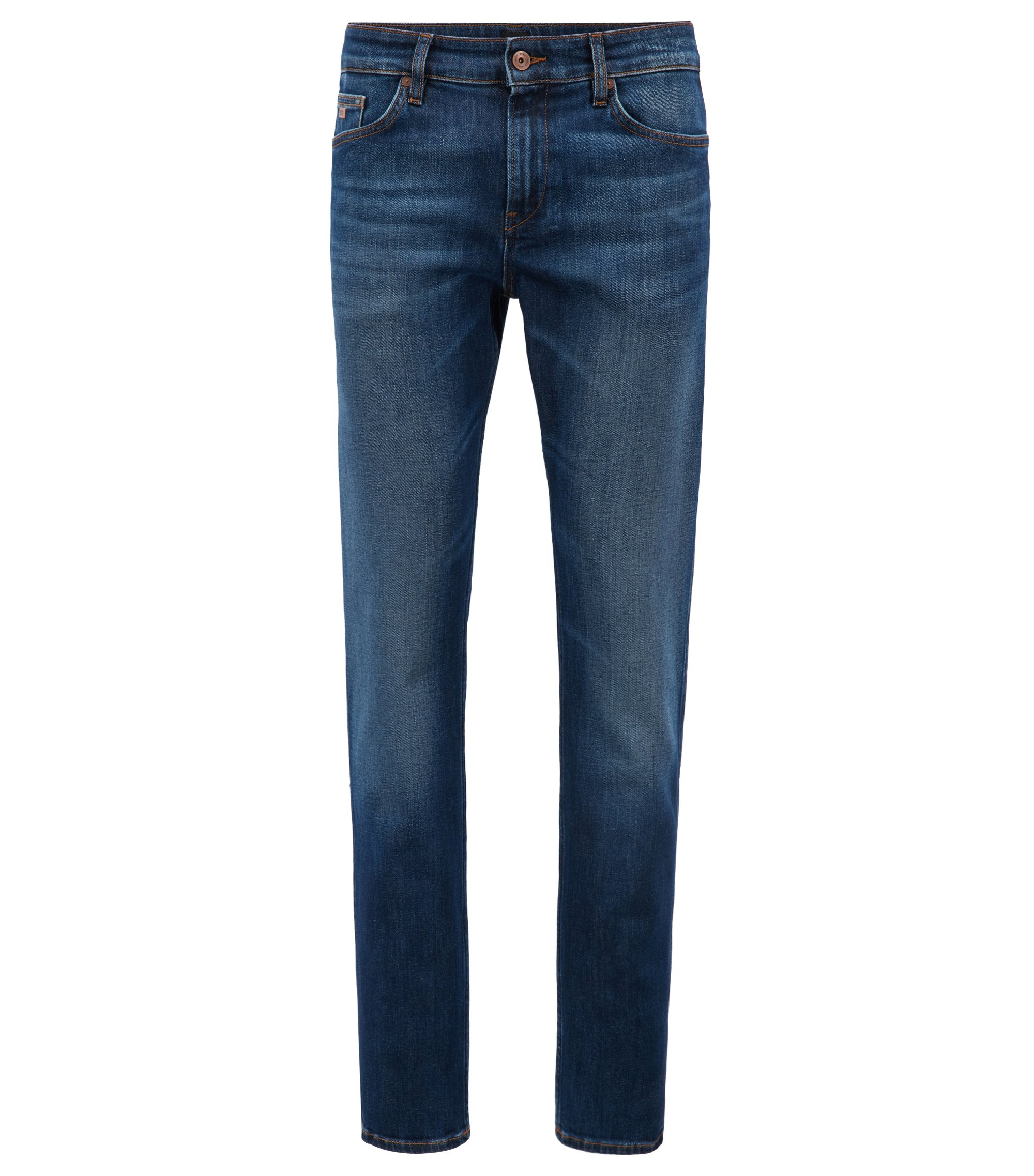 Slim-fit jeans in stretch denim, Blue