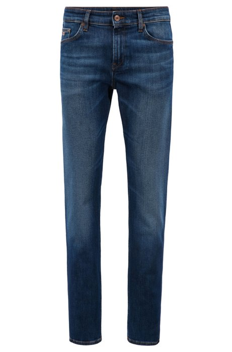 Jeans Slim Fit en denim stretch, Bleu
