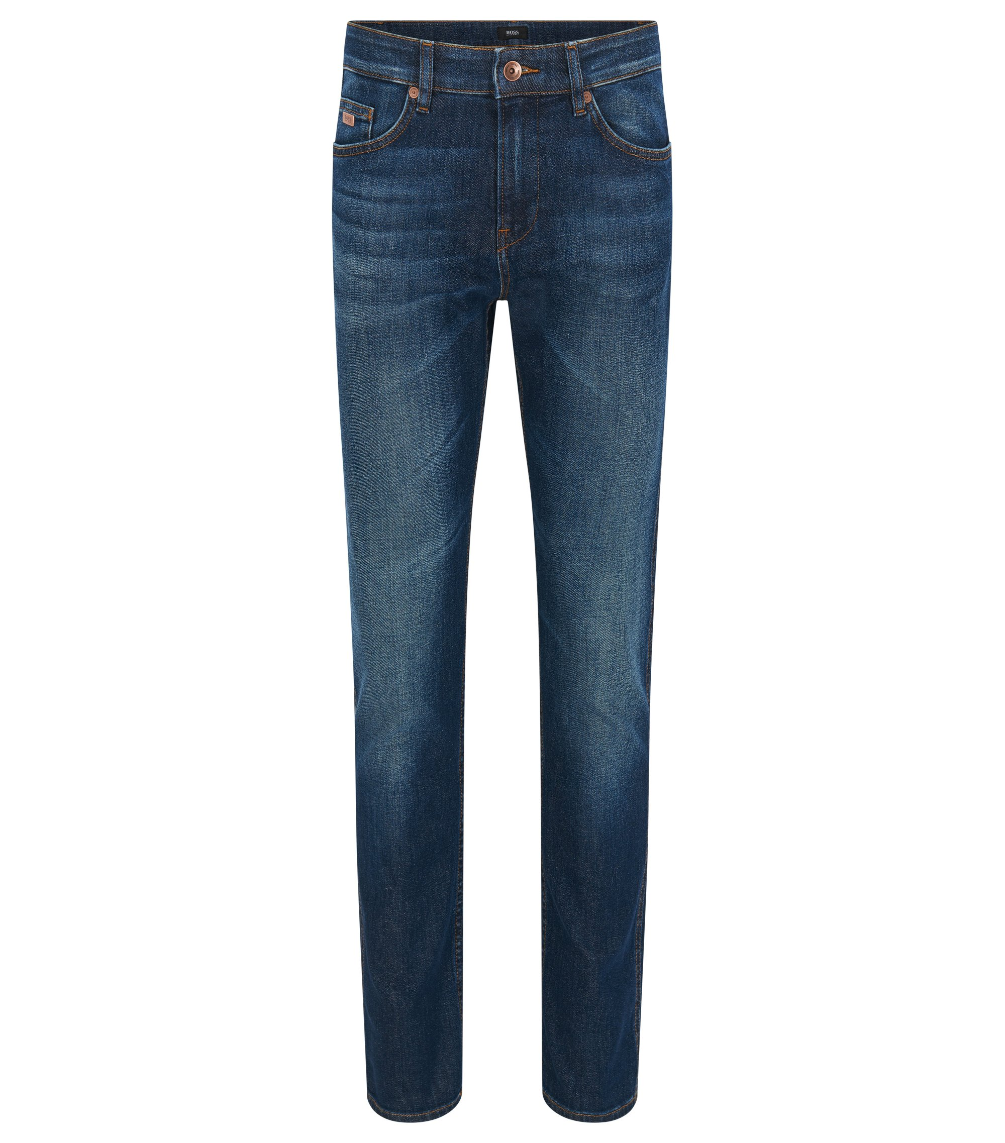 Jeans slim fit in denim elasticizzato, Blu