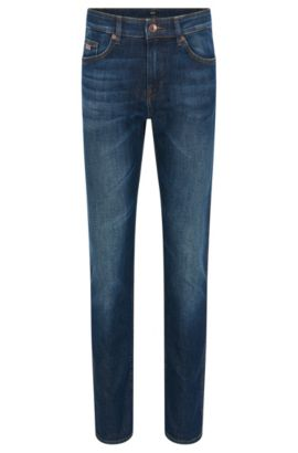 Vaqueros slim fit en denim elástico, Azul