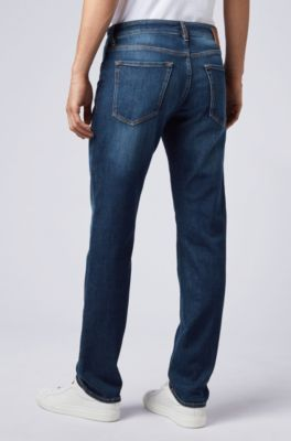 3d5130746 BOSS - Regular-fit jeans in stretch denim