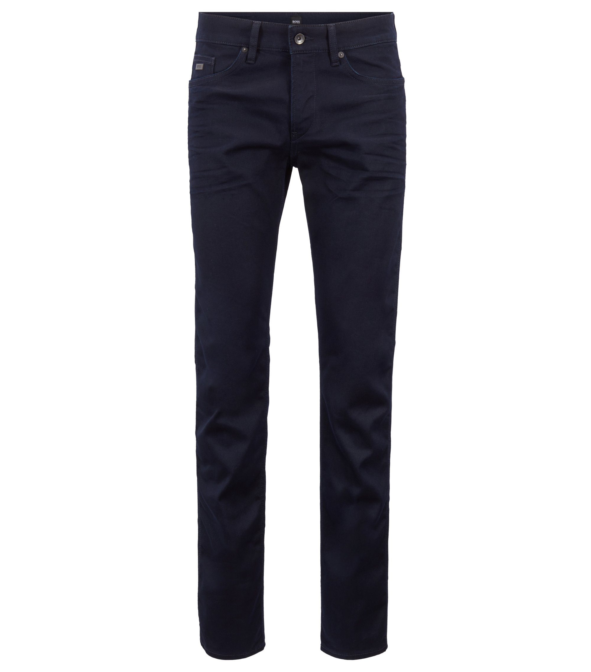Jeans slim fit in pregiato denim italiano, Blu scuro