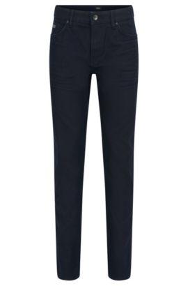 Slim-fit jeans van fijn Italiaans denim, Donkerblauw