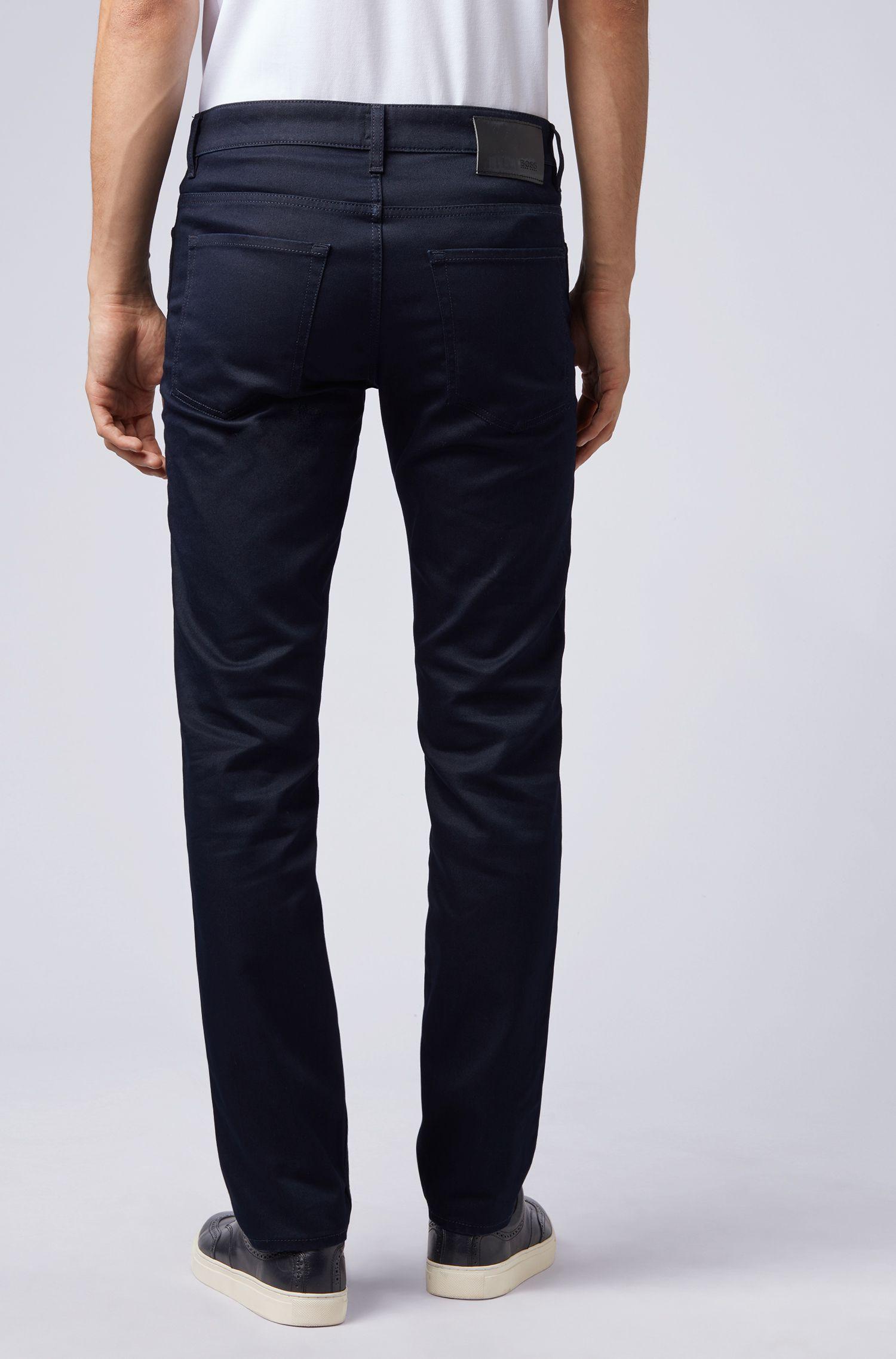 Slim-Fit Jeans aus elastischem Baumwoll-Mix, Dunkelblau