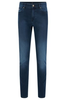 Vaqueros slim fit en denim elástico , Azul