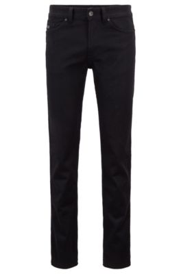 Jean Slim Fit en denim stretch, Noir