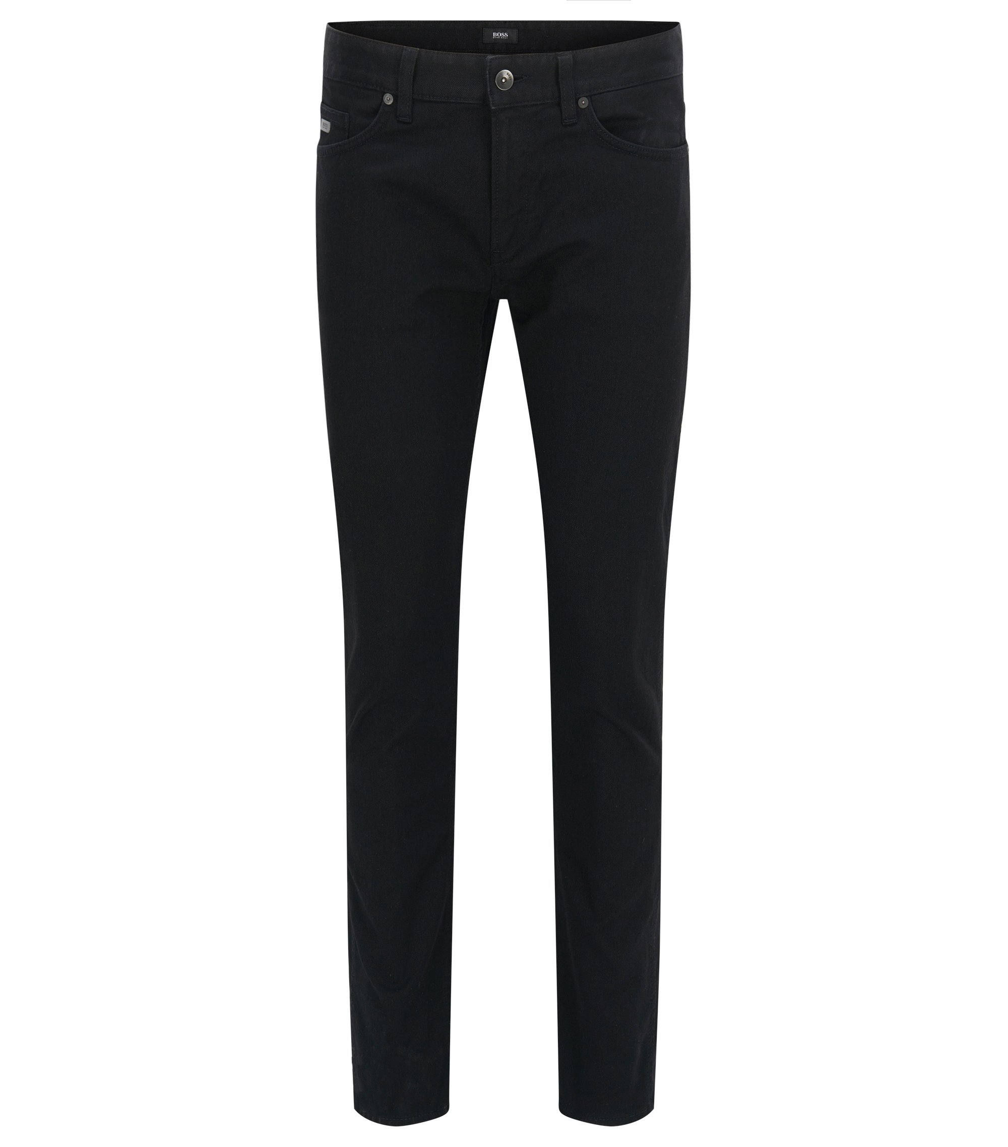 Slim-fit jeans in stretch denim, Black