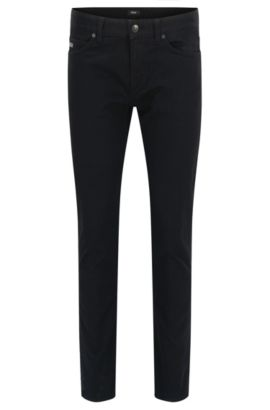 Jeans slim fit in denim elasticizzato, Nero