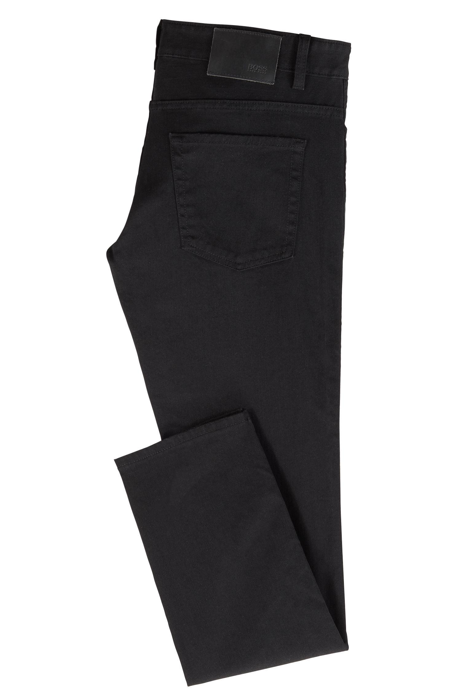 Slim-fit jeans van stretchdenim, Zwart