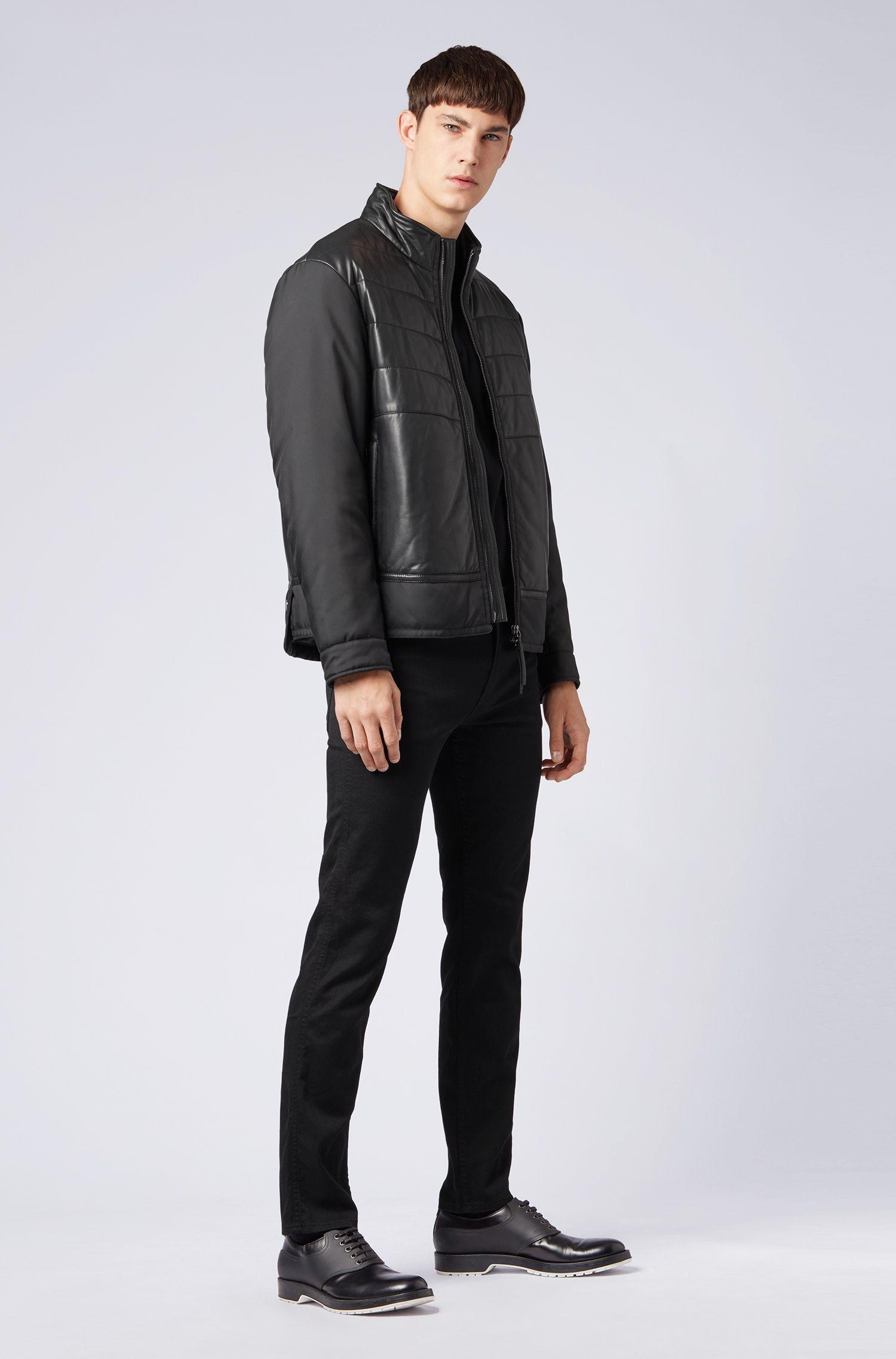 Jeans Slim Fit en denim stretch, Noir