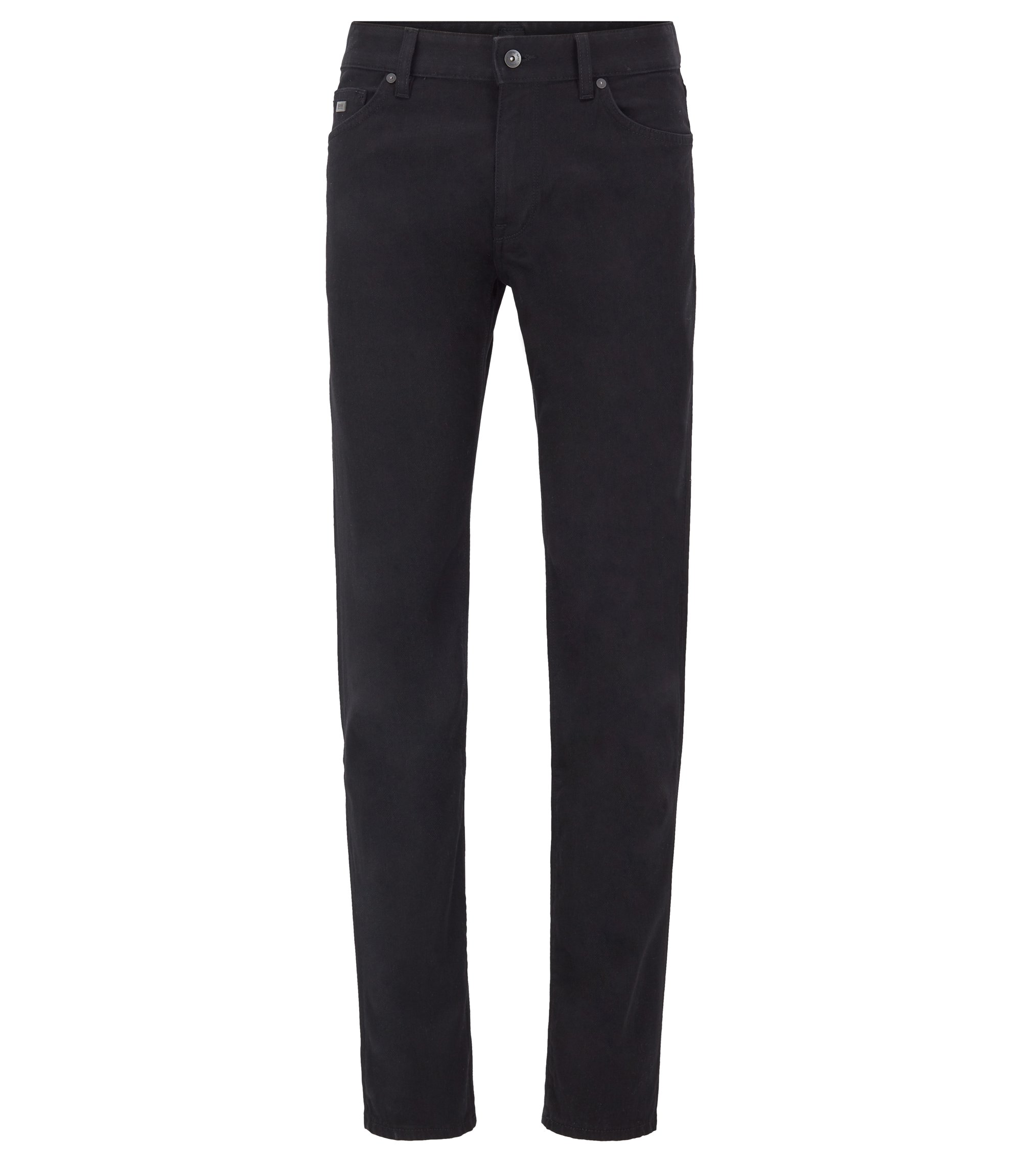 Regular-Fit Jeans aus Stretch-Denim, Schwarz