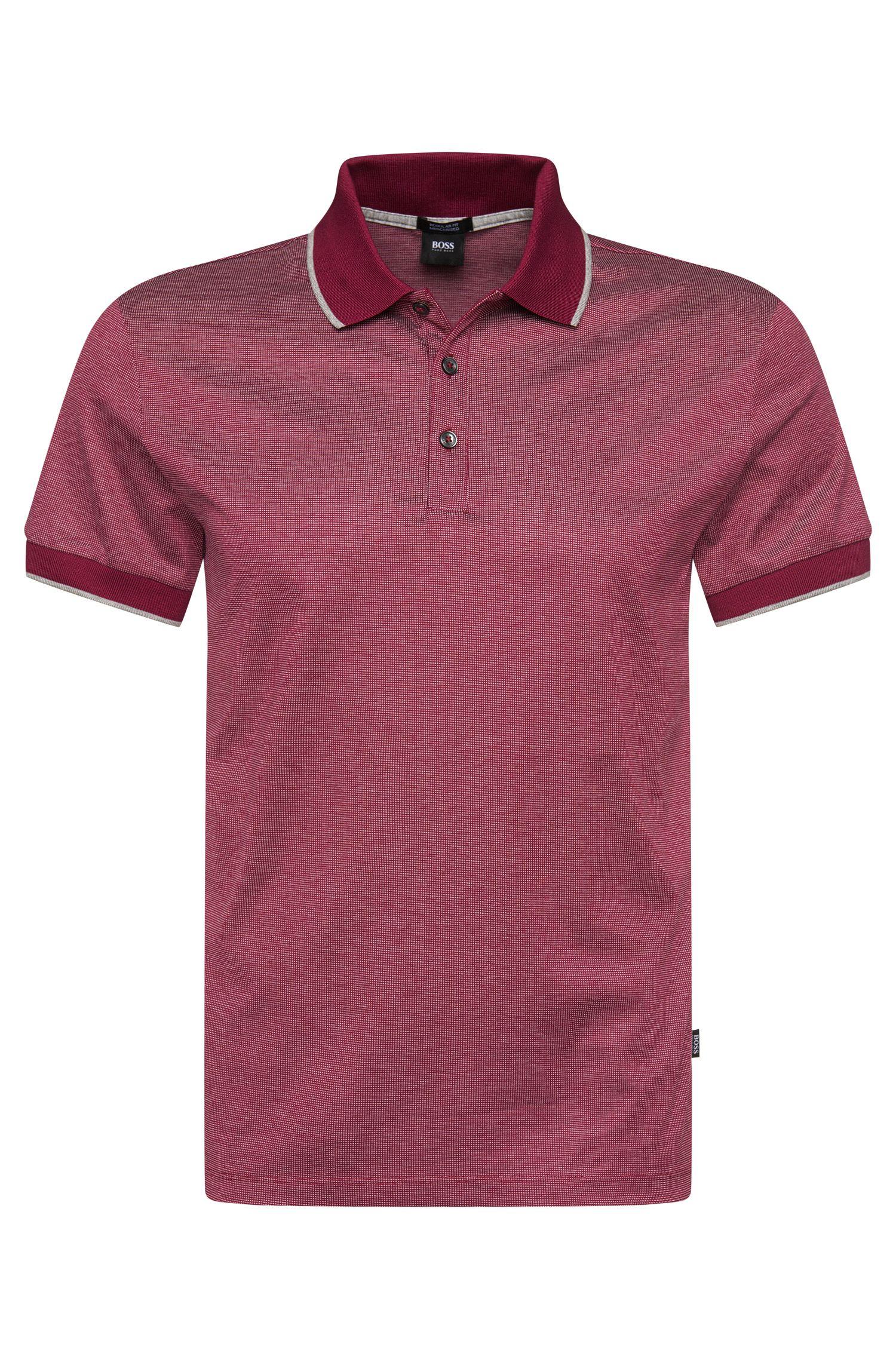 Meliertes Poloshirt aus Baumwolle: 'Genova 31'