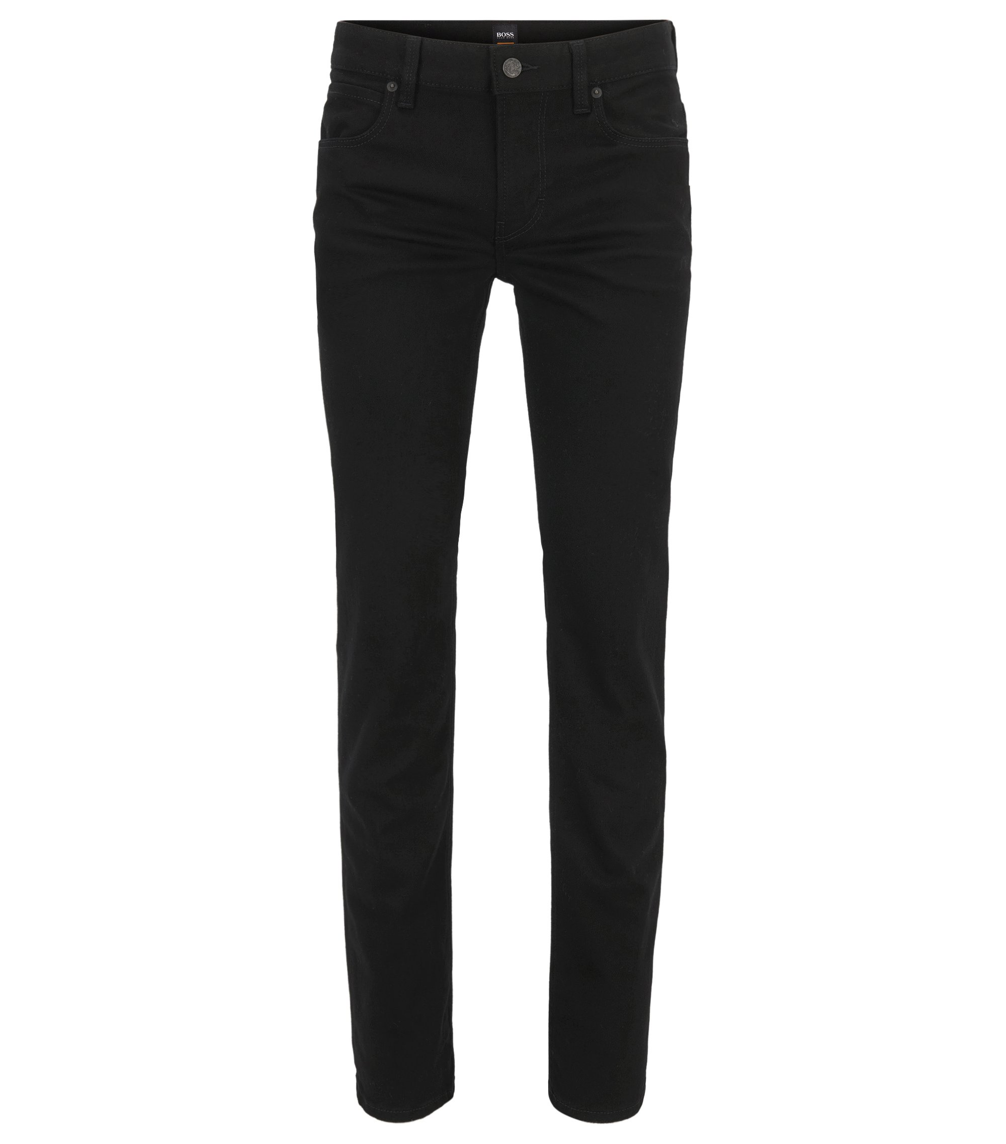 Slim-fit jeans in stay black-denim , Zwart