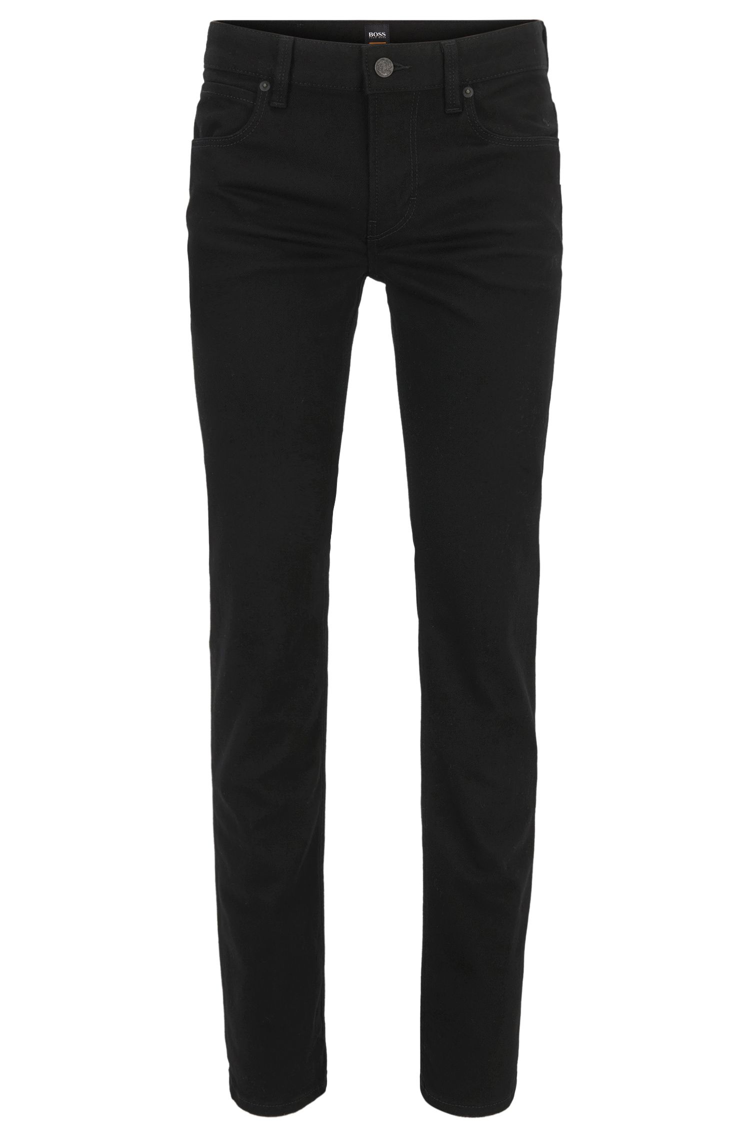 Slim-fit jeans in stay black-denim