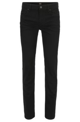Jeans Slim Fit en denim noir Stay Black, Noir