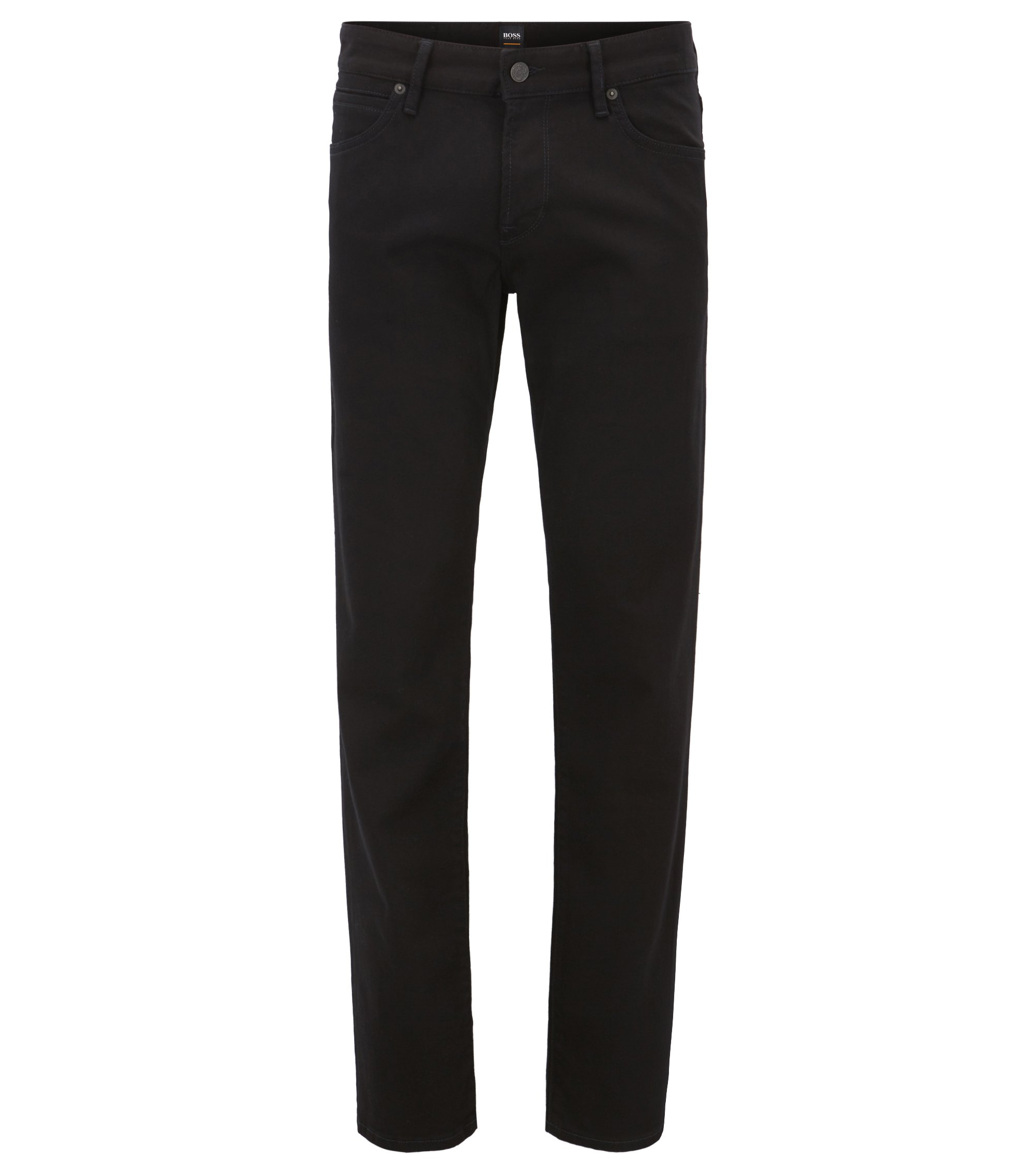 Jeans Regular Fit en denim noir Stay Black, Noir