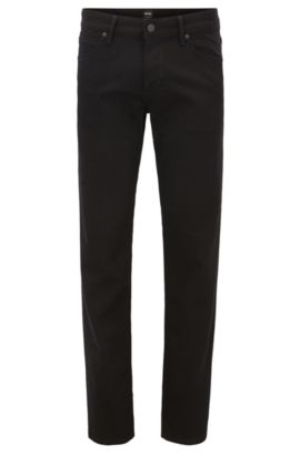 Regular-fit jeans in stay black denim , Zwart