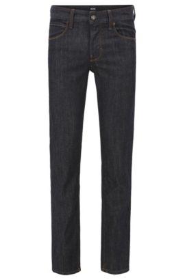 Jeans Slim Fit en doux denim stone-washed , Bleu foncé