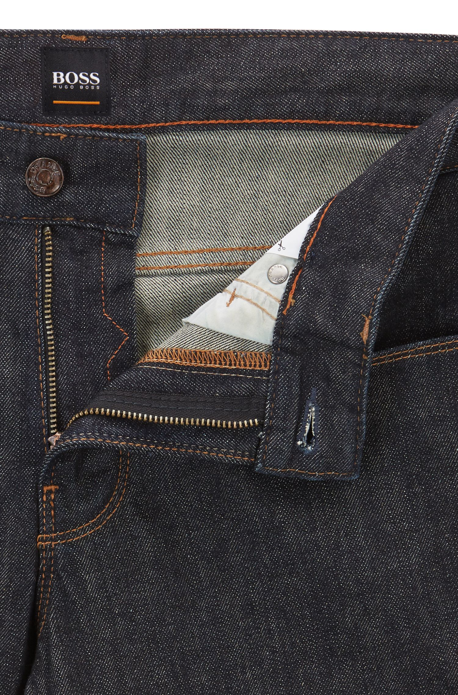 Jeans Slim Fit en doux denim stone-washed
