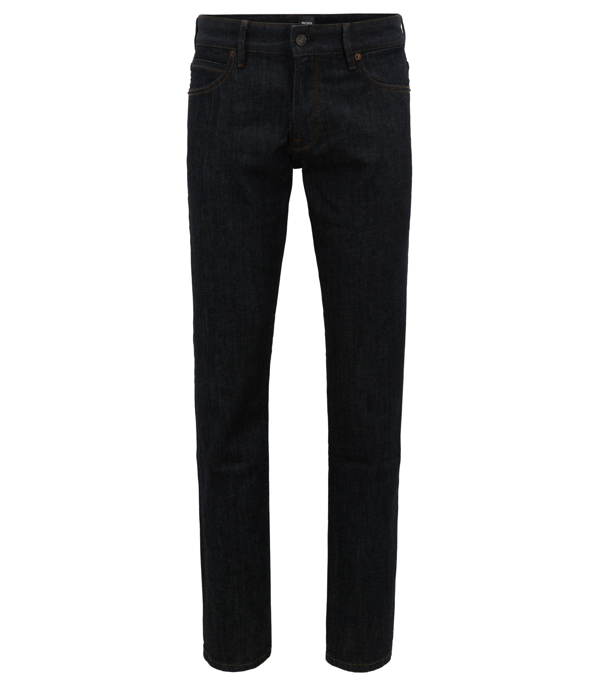 Regular fit jeans in soft stone-washed denim , Dark Blue