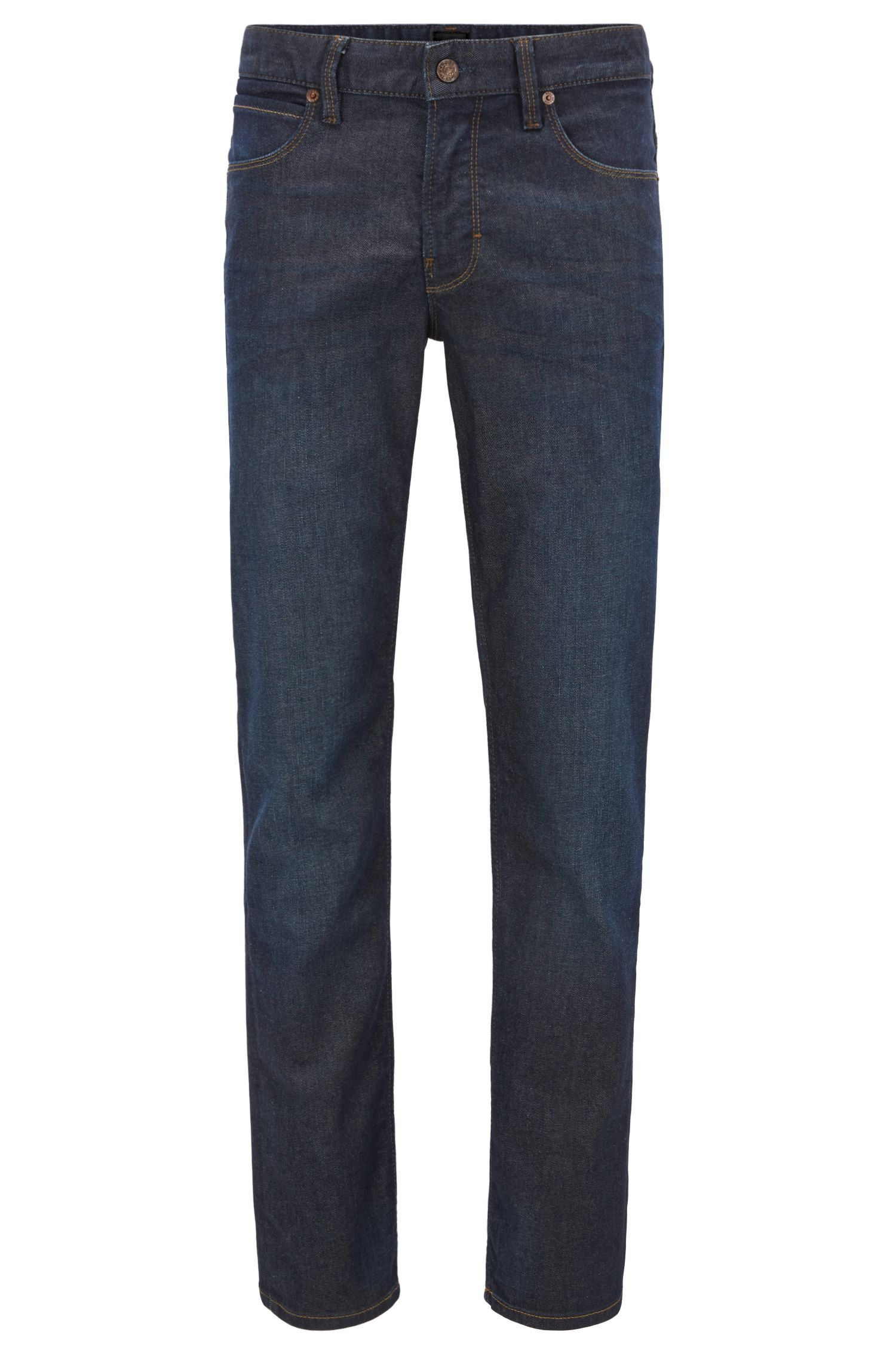 Jeans slim fit in denim indaco elasticizzato