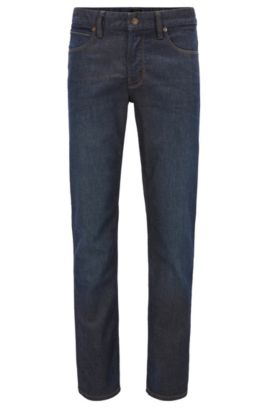 Slim-Fit Jeans aus indigofarbenem Stretch-Denim , Dunkelblau