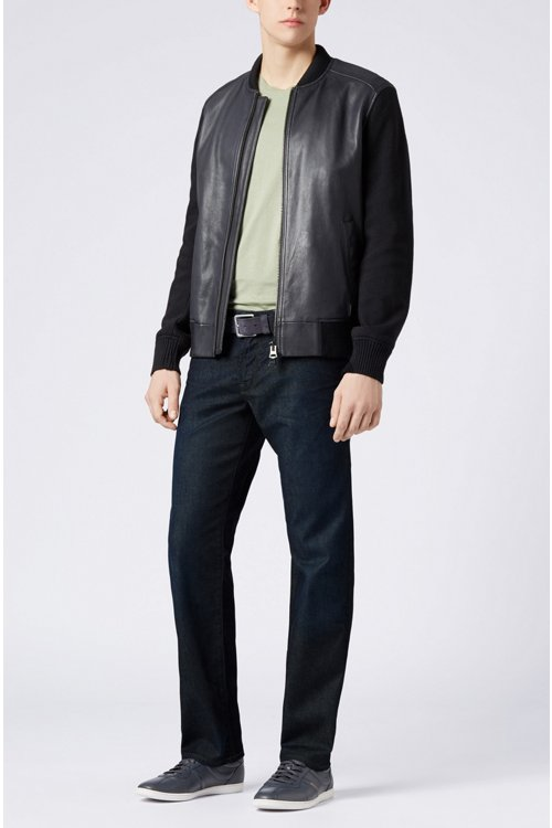 Hugo Boss - Regular-fit jeans in stretch indigo denim - 2