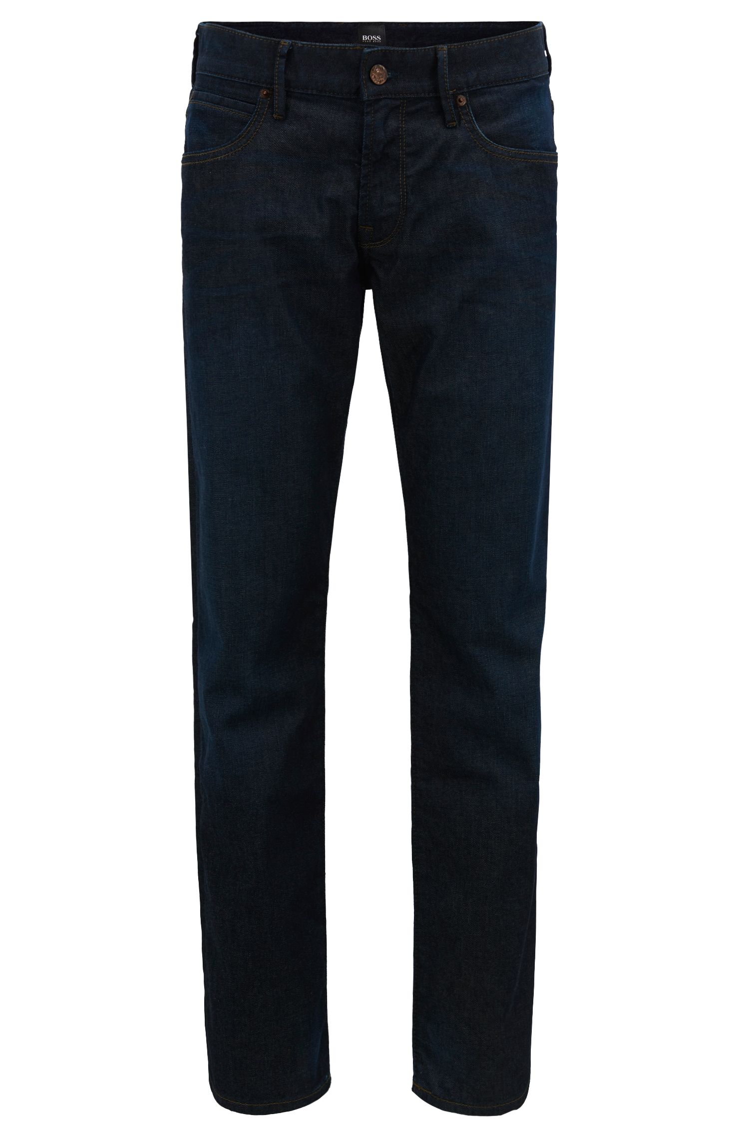 Regular-fit jeans in stretch indigo denim