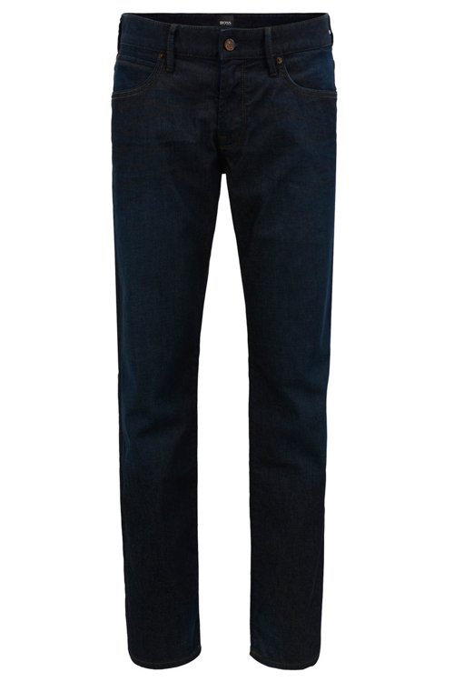 Hugo Boss - Regular-fit jeans in stretch indigo denim - 1