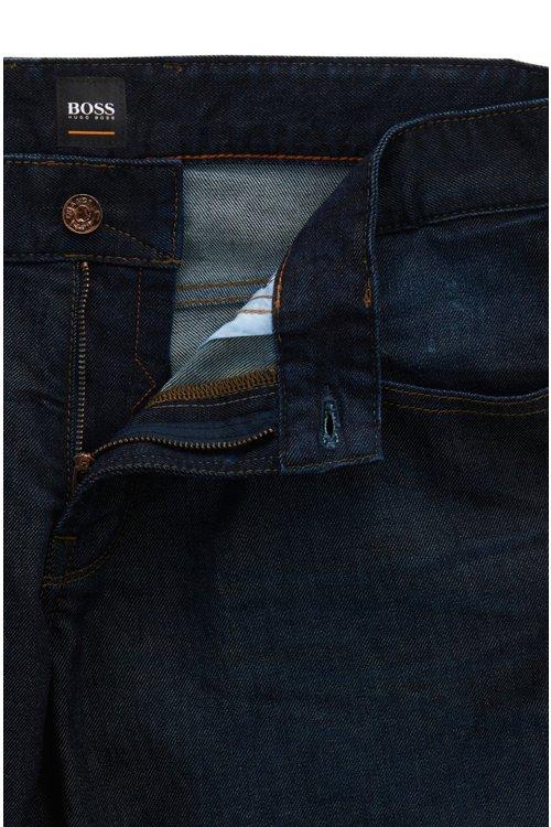 Hugo Boss - Regular-fit jeans in stretch indigo denim - 4