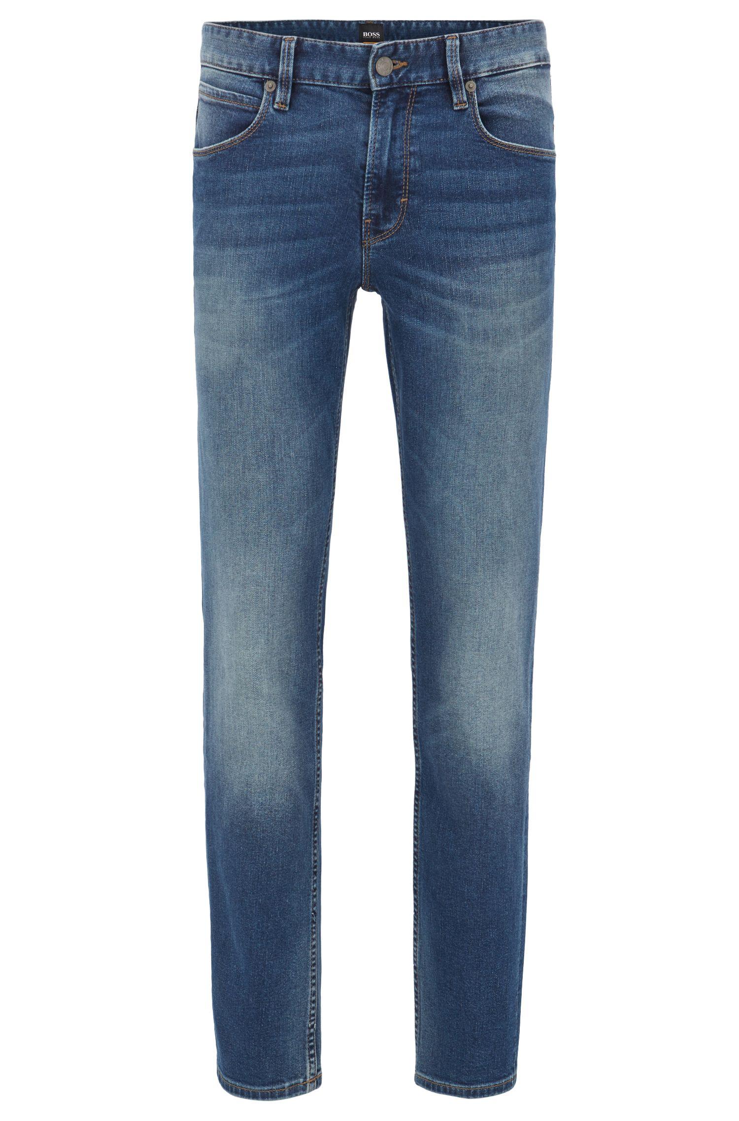 Slim-Fit Jeans in verwaschenem Indigoblau