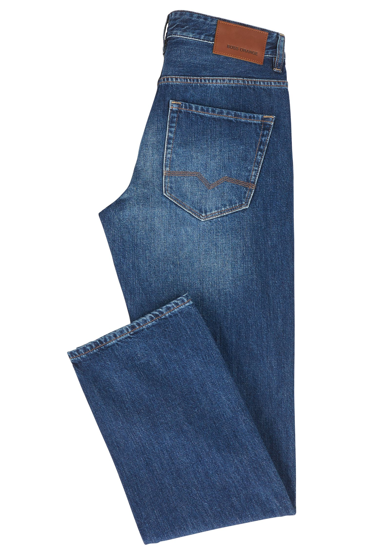 Regular-Fit gelaserte Stone-washed-Jeans