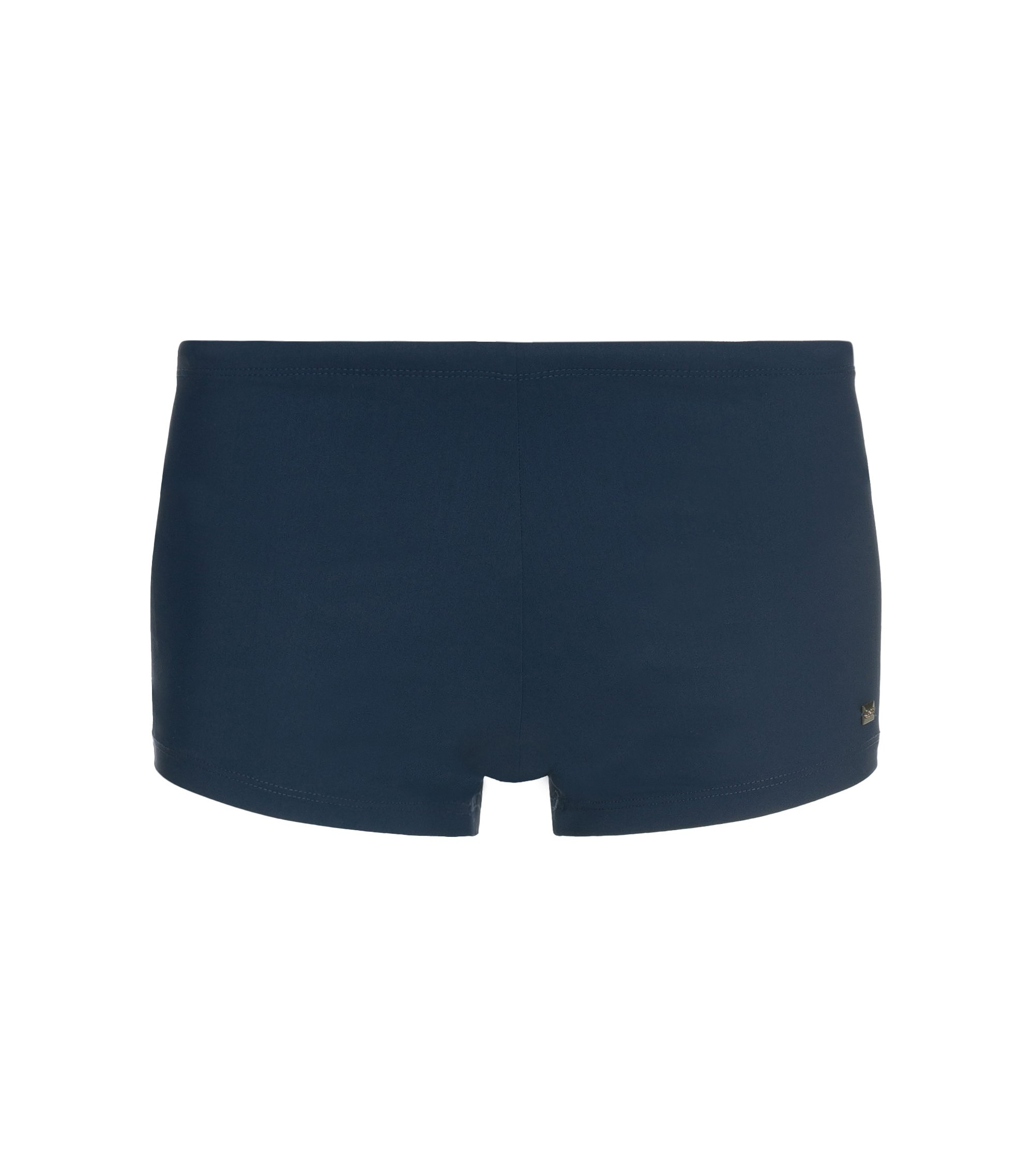 Drawstring swim briefs with logo plate , Dark Blue