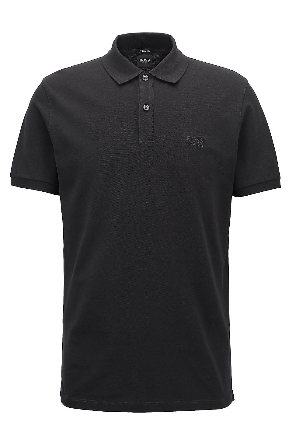 regular fit polo shirt in fine piqu boss. Black Bedroom Furniture Sets. Home Design Ideas