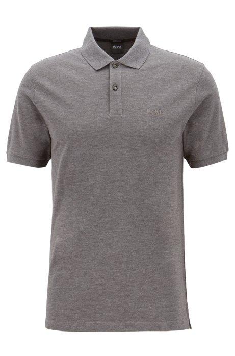 Regular-Fit Poloshirt aus feinem Piqué, Grau