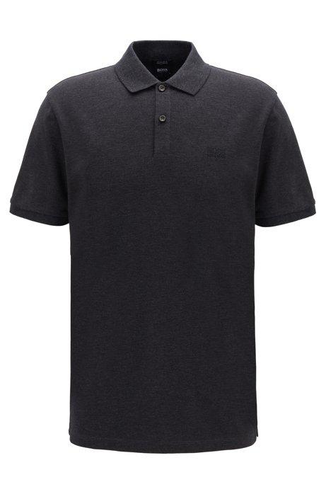Regular-Fit Poloshirt aus feinem Piqué, Dunkelgrau