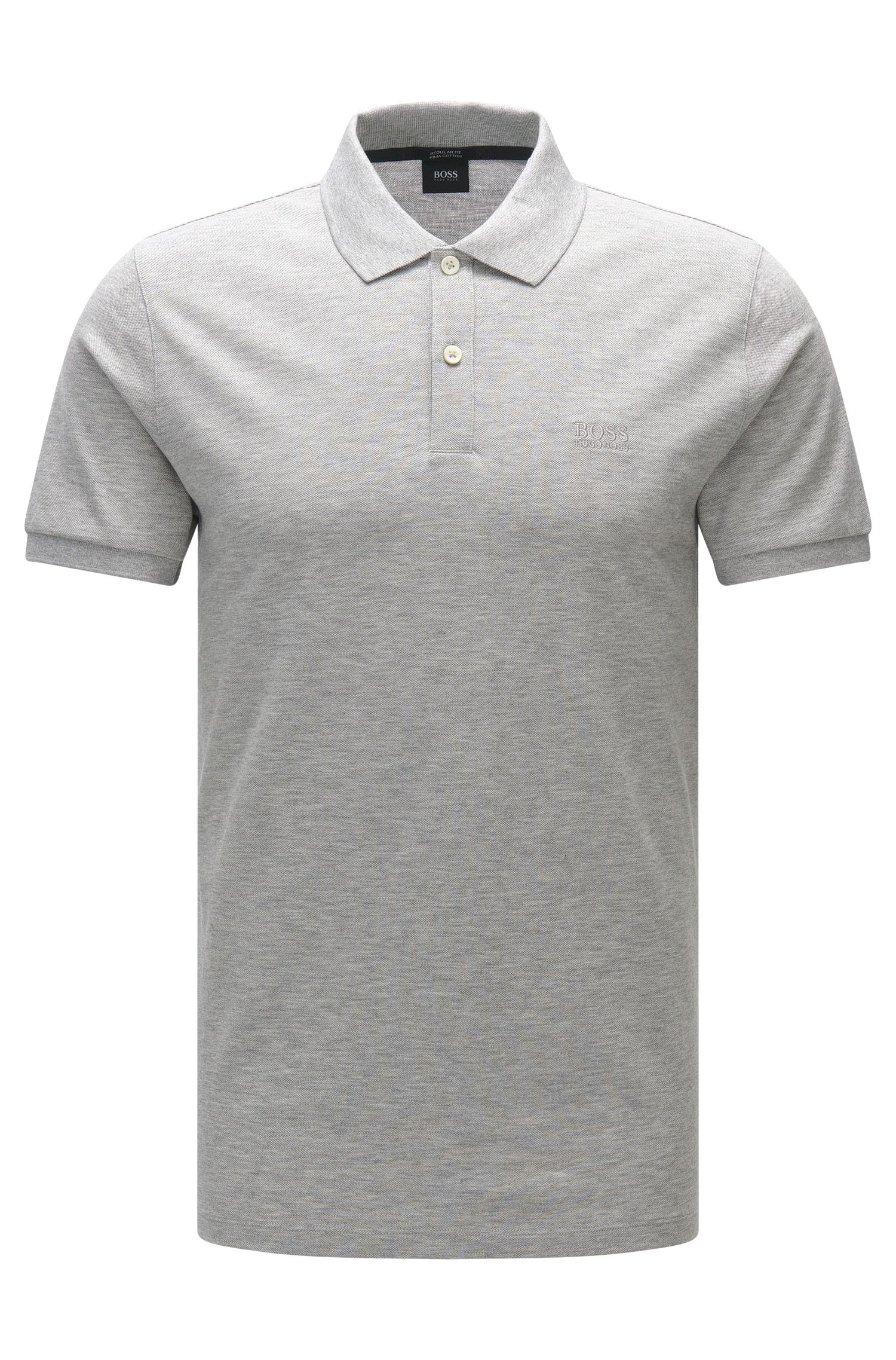 Regular-fit poloshirt van fijne piqué van BOSS Menswear