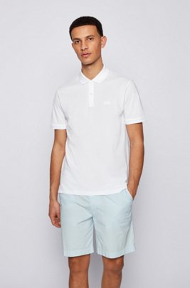 Regular-fit polo shirt in Pima-cotton piqué, White